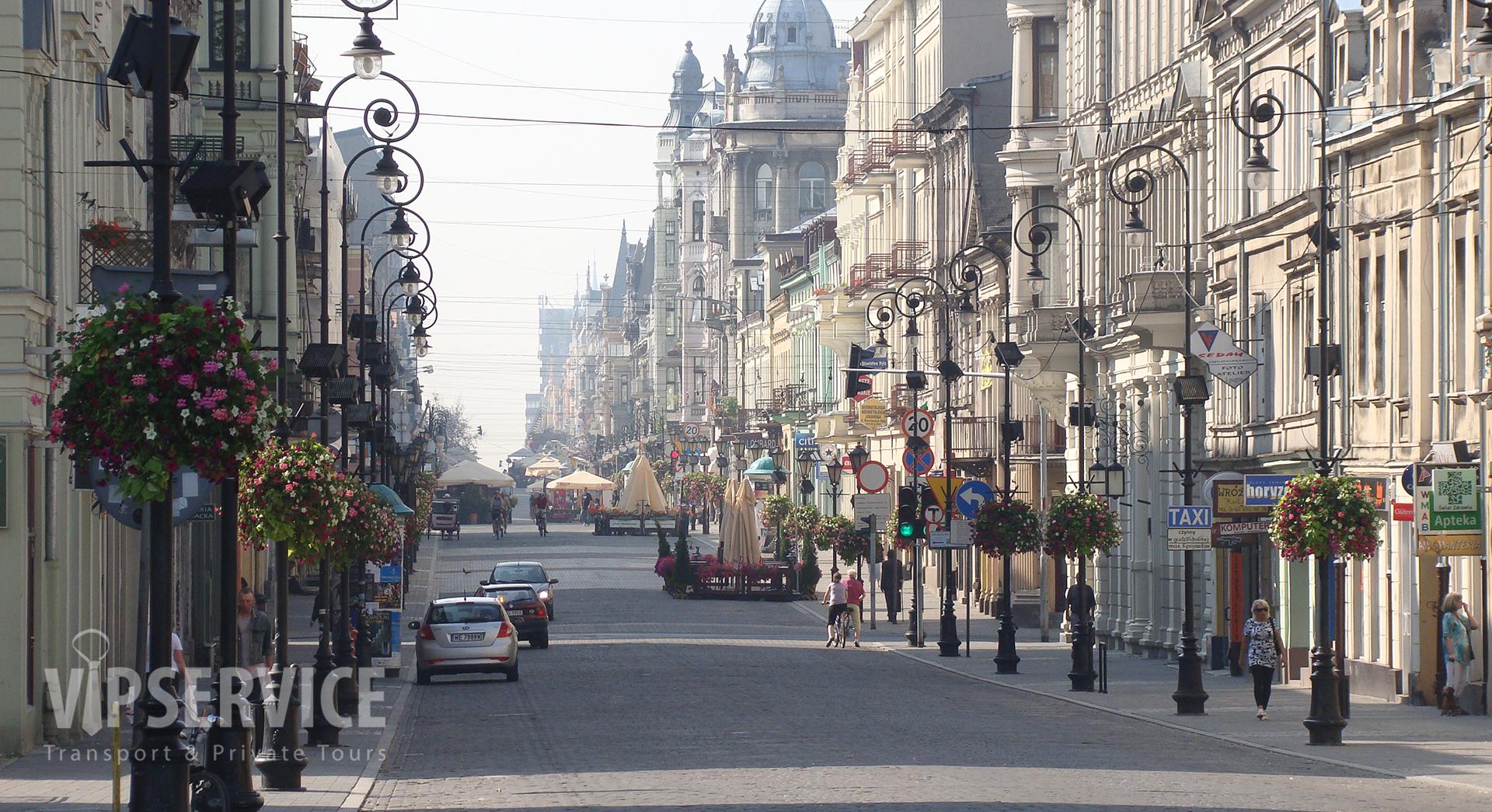 Łódź, Piotrkowska Street / Łódź, ulica Piotrkowska