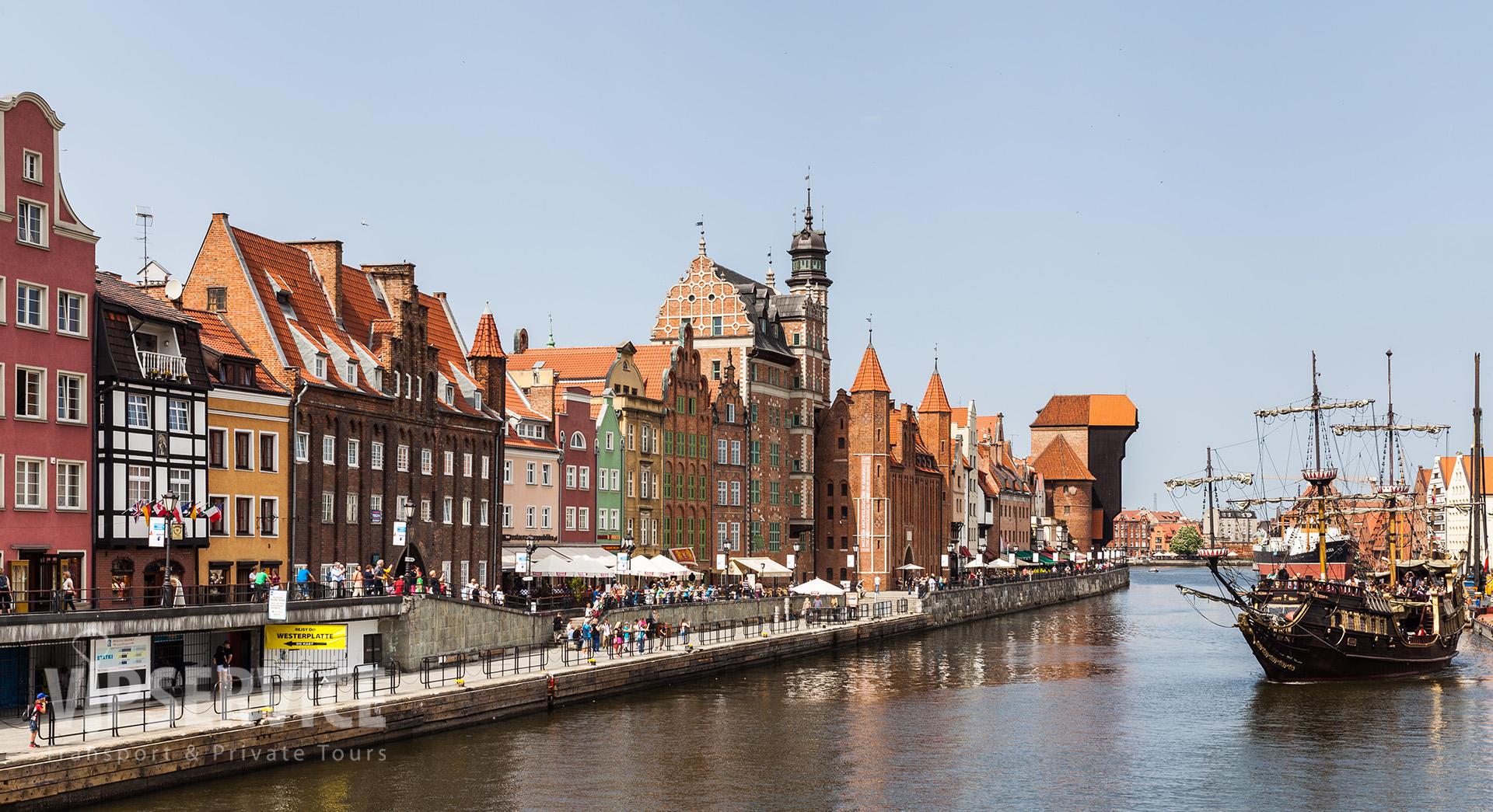 Gdańsk, Motława riverbank / Gdańsk, nabrzeże Motławy